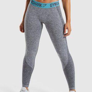 Gymshark Flex Leggings - Charcoal Marl/Dusky Teal